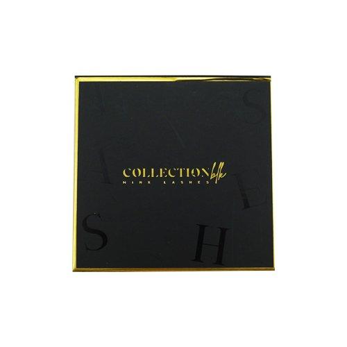 wholesale black gold square private custom lashes box 2-1