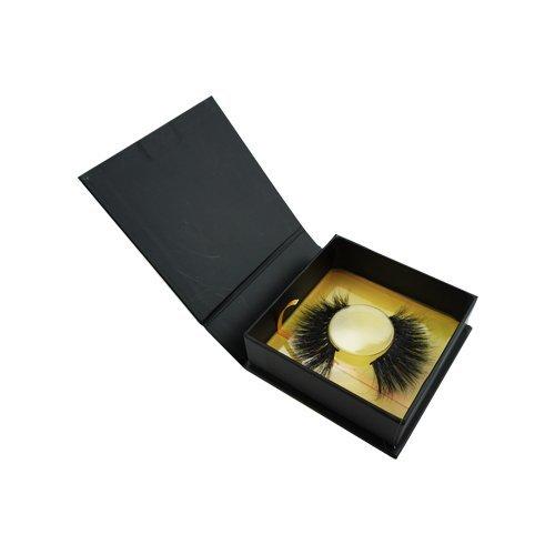 wholesale black gold square private custom lashes box 2-3