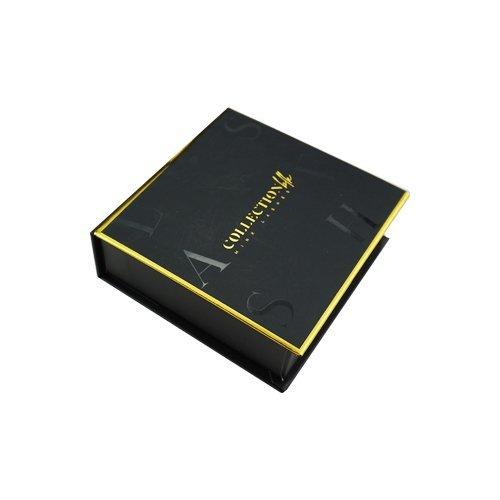 wholesale black gold square private custom lashes box 2-4