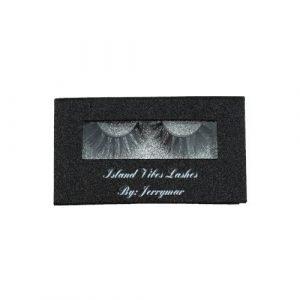 wholesale black silver rectangle private custom lashes box 1