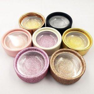 wholesale circle private custom lashes box 1