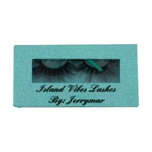 wholesale light blue rectangle private custom lashes box 1