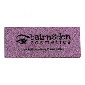 wholesale pink silver rectangle private custom lashes box 1