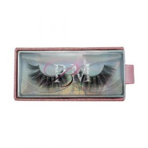 wholesale pink silver rectangle private custom pull out lashes box 1