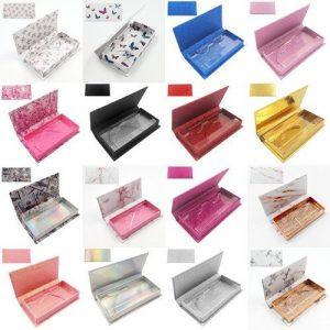 wholesale rectangle custom lashes box 1