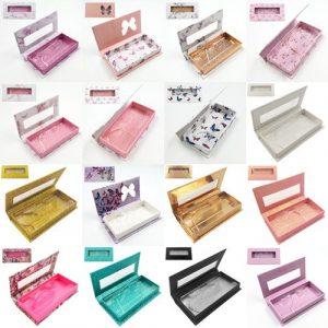 wholesale rectangle with window custom lashes box 1