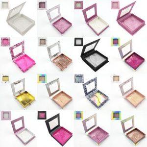 wholesale square with window custom lashes box 1